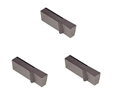 TiAlN Coated Carbide Nickel and Stainless Steel Without Interrupted Cuts Sharp Corner Grooving Insert for Steel THINBIT 3 Pack LGT150D5RE 0.150 Width 0.250 Depth Titanium