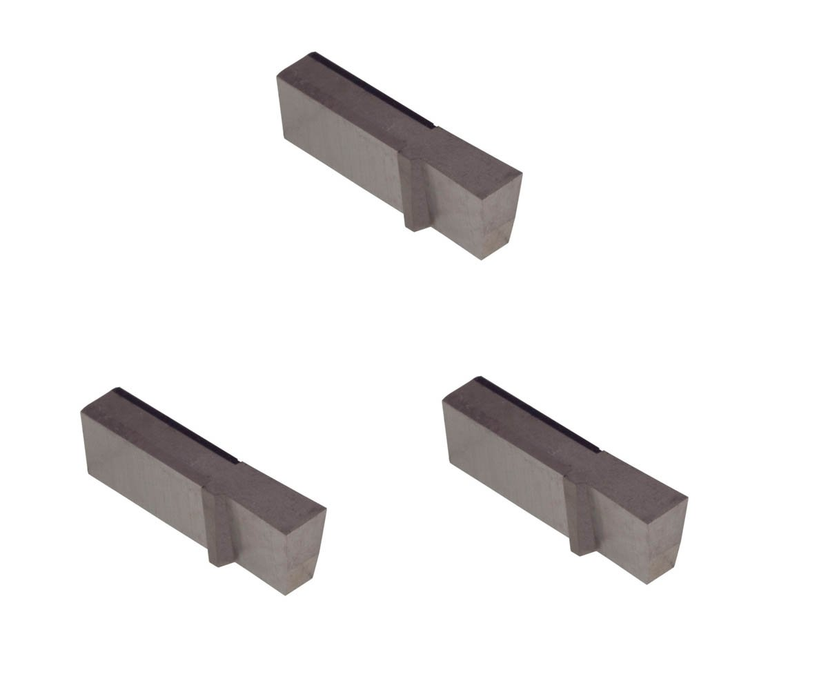 3 Pack LGT110D2R.110 Width.250 Depth, Uncoated Carbide, Sharp Corner, THINBIT Grooving Insert for Steel, cast Iron and Stainless Steel with Interrupted cuts