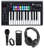 #6: Novation LAUNCHKEY-25-MK2 25-Key USB MIDI Keyboard Controller+Headphones+Mic