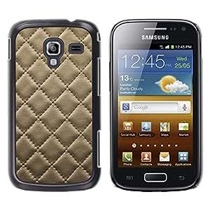 [Neutron-Star] Snap-on Series Teléfono Carcasa Funda Case Caso para Samsung Galaxy Ace 2 [Cuero del patrón de la galleta de la galleta Costura Diamond]