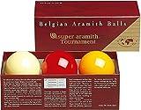 Aramith 61.5 mm Super Armith Tournament Carom/Carambole Billiard/Pool Balls, Complete 3 Ball Set