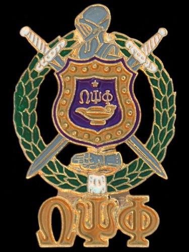 Omega Psi Phi 3 letters Shield Lapel Pin