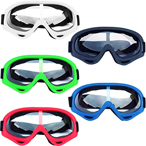 Trounistro 5 Pack Eye Goggles Protective Goggles Glasses for Teens Game Battle Hiking and Sand Prevention, 5 Colors