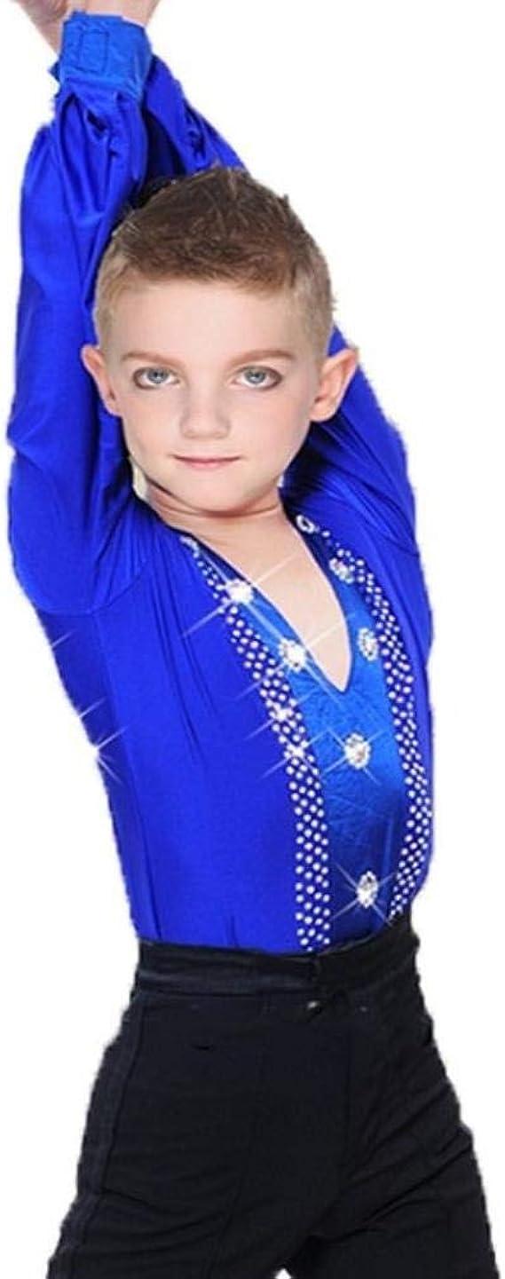 Ballroom Camisa de Baile Latino para Hombres y niños Ropa para Salsa Samba Adulto competición Rendimiento Ropa: Amazon.es: Ropa y accesorios
