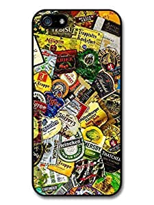 AMAF ? Accessories Beer Brands Collage Stickerbombs case for iPhone 5 5S