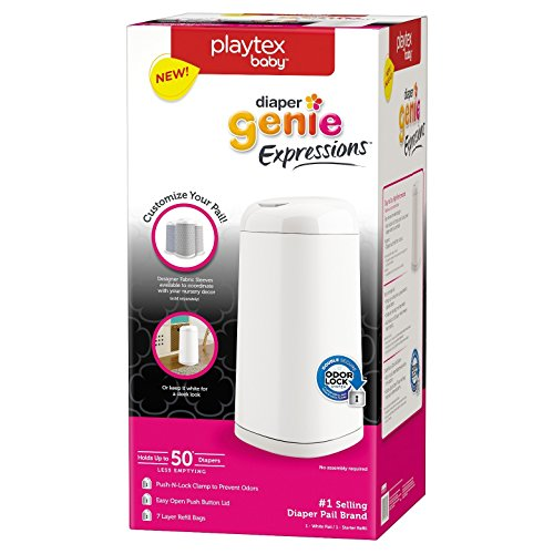 : Playtex Diaper Genie Expressions Customizable Diaper Pail with Starter Refill