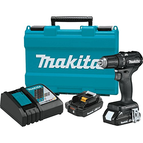 Makita XFD11RB 18V LXT Lithium-Ion Sub-Compact Brushless Cordless 1/2″ Driver-Drill Kit (2.0Ah)