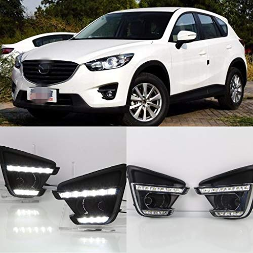 [해외]Auto-Tech 1 Set Car LED light Daytime Running Light Retrofit LED White light color DRL kit For Mazda CX-5 2013-2016 (White light) / Auto-Tech 1 Set Car LED light Daytime Running Light, Retrofit LED White light color DRL kit For Maz...
