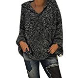 iHPH7 Women Fashion Ladies Hooded Solid Blouse Pullover Winter Warm Tops Shirt
