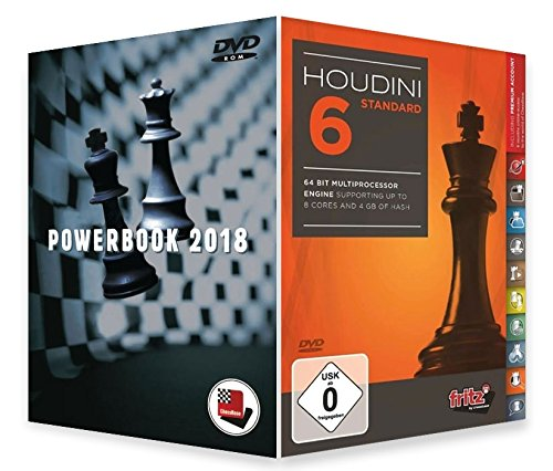 Houdini 6 Chess Playing Software - STANDARD EDITION with Powerbook 2018 Chess Software