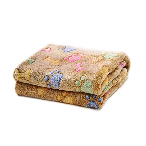 Big Dog Fleece (Allisandro Super Soft and Flully Dog Cat Puppy Blanket,Total 16 Sizes and Colors Avaliable for Small Medium Large Pet, Coffee[100% Flannel Fleece])