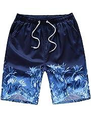 Pantalones Cortos de Playa, Pantalones Cortos de Surf Hawaianos Ocasionales, Pantalones Cortos de Verano para Hombres, Good dress, Árbol de coco, l