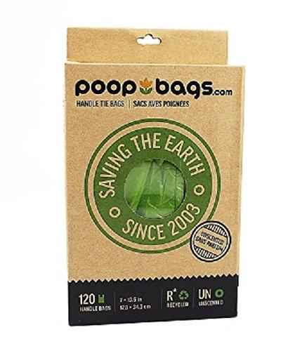 The Original PoopBags 120 Count Recycled Handle Tie Poop Bags, Large