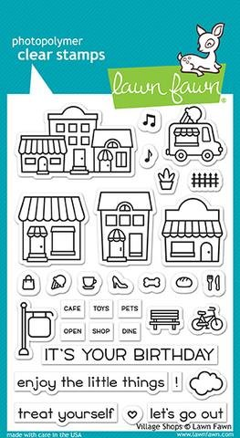 Lawn Fawn Clear Stamp Set - Village (Shop Stamp)