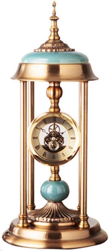 QFQ Reloj de Mesa de sobremesa Americano Vintage Decorado con ...