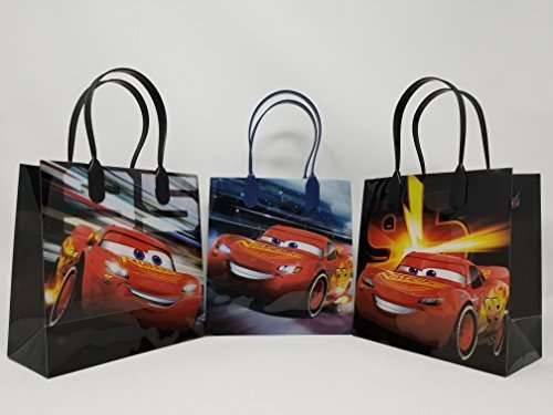 Licensed Disney Cars 3 Mc Queen Party Favor Goodie Small Gift Bags (12 Bags)