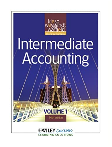 Intermediate accounting 14th edition volume 1 cue donald e kieso intermediate accounting 14th edition volume 1 cue donald e kieso jerry j weygandt terry d warfield 9781118121825 amazon books fandeluxe Image collections