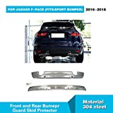 For Jaguar F-Pace 2016 2017 2018 MCARCAR KIT Stainless Steel Front and Rear Bumper Sill Plate Guard Protector Cover Trims