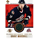 (CI) Grant Marshall Hockey Card 2001-02 Private Stock Game Gear (base) 32 Grant.