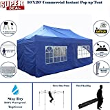 10'x20' Pop UP Canopy Wedding Party Tent Instant EZ UP Canopy Blue - F Model Commercial Frame By DELTA