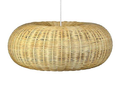 KOUBOO 1050075 Handwoven Wicker Donut Pendant lamp, Natural Brown, 23