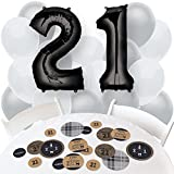 Finally 21 - Confetti and Balloon 21st Birthday Party Decorations - Combo Kit