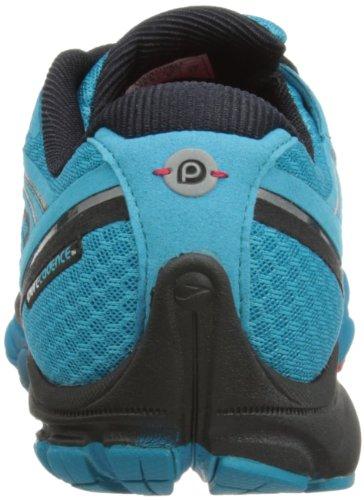 Brooks - Scarpe sportive - Running, Uomo, Blu (Caribbean Sea/Black/High Risk Red), 42 (Larghezza: F)
