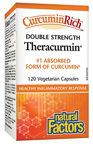 60 Double Strength Capsules (Natural Factors CurcuminRich Theracurmin Double Strength Turmeric 60 mg 120 Capsules)