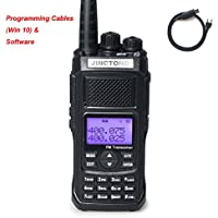 Jingtong JT-5988HP 12-Watt Tri-Power 10/5/3W Dual Band Two Way Radio 4800 mAh Battery 128-Channel Portable Handheld Transceiver