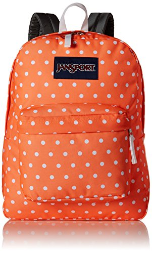 JanSport Superbreak, Tahitian Orange/White Dots, One Size by JanSport