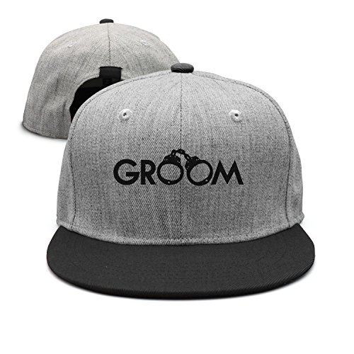 SJSNBZ Groom Handcuffs Wool Unisex Adult Womens Fitted (Flat Brim Fitted Wool Cap)