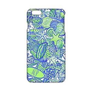 Slim Thin Fresh simple starfish and shell pattern Phone Case for iPhone 6 plus