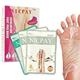 Exfoliating Foot Peel Mask – 2 Pairs Lavender Scented Peel Mask for Callus Dead Skin and 1 Pair Smooth&Care Foot Mask– Removes Dead Skin & Calluses In 1 Week