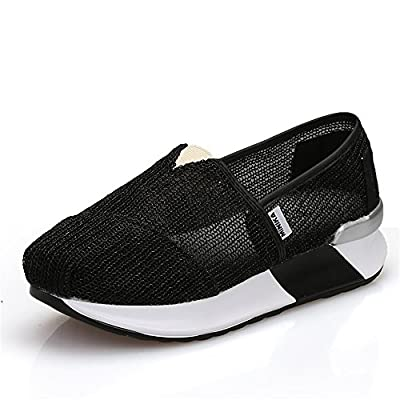 pit4tk Casual Summer Flat Platform Women Shake Shoes Rubber Non-Slip Canvas Footwear Comfortable Ladies Shoes