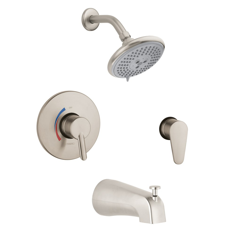Hansgrohe 04465820 Focus S Shower System Combo, Brushed Nickel by Hansgrohe  B00AZ2928E