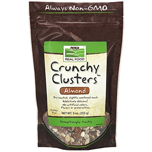NOW Foods, Crunchy Clusters Almond, Dry-Roasted and Slightly Sweetened Snack, No Preservatives or Added Colors, 9-Ounce