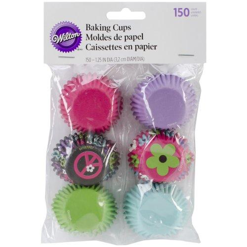 Wilton Mini Baking Cups, Peace Flower, 150/Pack -