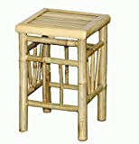 Cheap Bamboo Stool Pedestal with All Construction – Set of 2