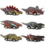 Toys : ZHFUYS Dinosaur Toy car,boy Toys Age 3 to 12 Toy Dinosaur 5.3 Inch Toys for 3,4,5,6,7,8,9,10,11,12 Year Old Boys Full-Form Dino car Toy,6 Pack