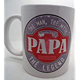 Papa the man the Myth the Legend 110z ceramic mug gift fathers day christams by LBS4ALL