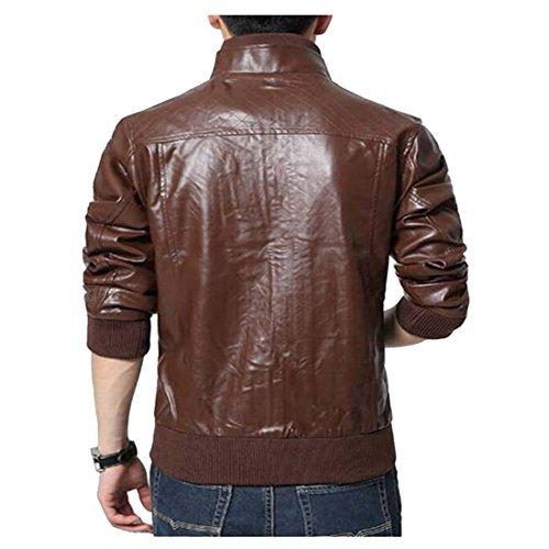 Escelar Veste en faux cuir pour homme EX25