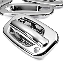 Triple Chrome Mirror Side Door Handle Cover Trims For 2000-2006 GMC Sierra Yukon Chevy Cadillac Escalade