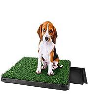 loikero123 hondentoilet hondenklo trainingsonderlegger met kunstgras, puppentoilette potjessteun huisdier wc-potjes voor puppels kleine middelgrote / oudere honden (A2)