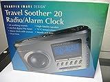 Sharper Image Travel Soother 20 Radio/Alarm Clock