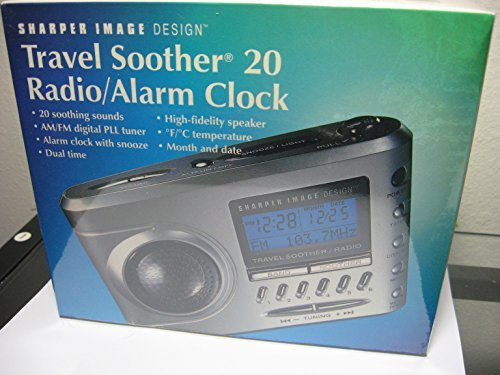 Sharper Image Travel Soother 20 Radio/Alarm Clock