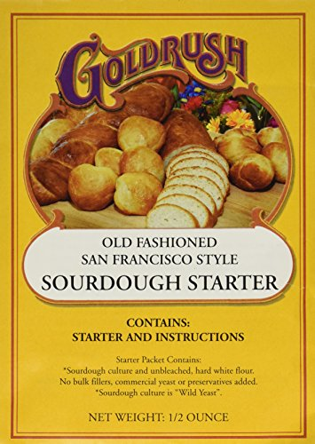 Price comparison product image Gold Rush Old Fashioned San Francisco Style Sourdough Bread Starter,  0.5 Ounce Packets