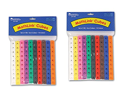 Learning Resources Mathlink Cubes - 100 Cubes - 2 Pack - 200