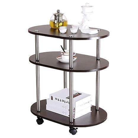 Amazon.com: Mesa auxiliar de 3 niveles de Hanshan, mesa de ...