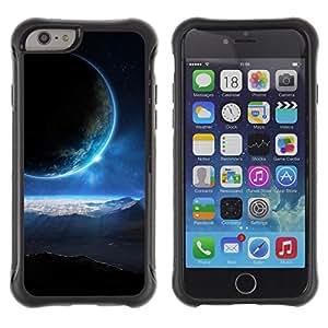 "Pulsar iFace Series Tpu silicona Carcasa Funda Case para Apple (4.7 inches!!!) iPhone 6 , Blue Sun Light planetas alienígenas Mundo Universo Arte"""