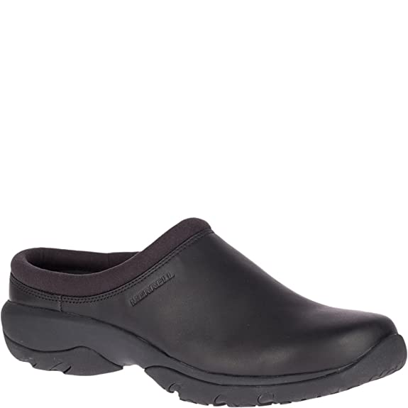 Merrell Men's Encore REXTON Leather AC+ Clog, Black, 7 M US